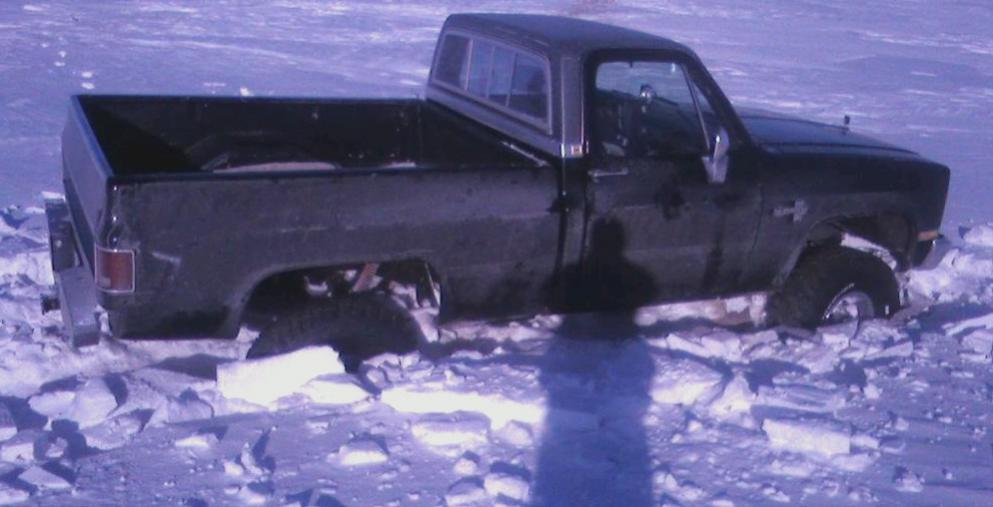 OLD CHEVY 001 start to mud truck testing 400 bored cam heads headders stall gears got to heavy foot blew up.