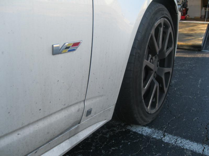 CTS-V with heavy dirt and deep contamination.